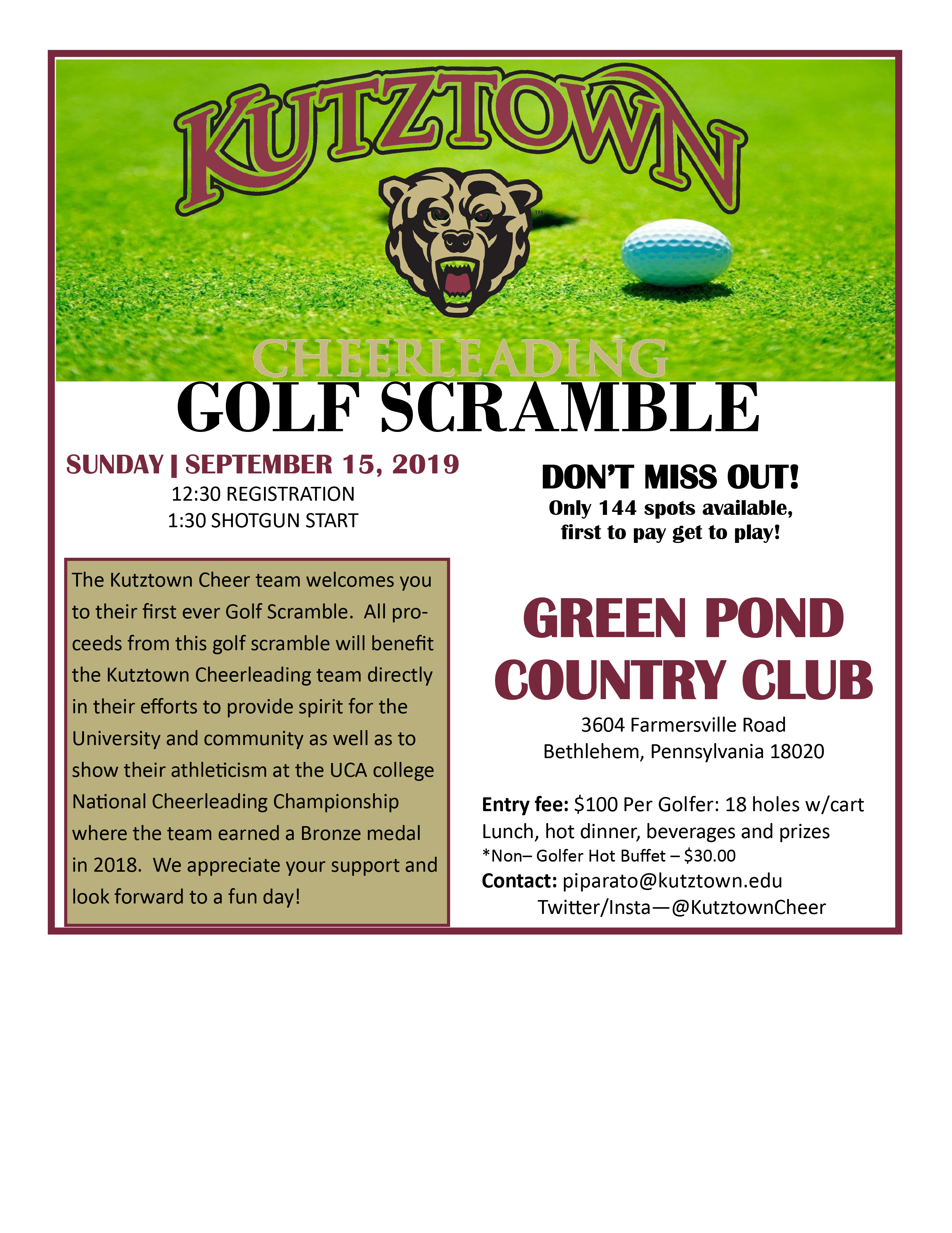 2019 Cheer Golf Outing