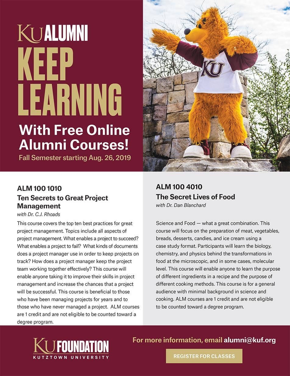2019 Alumni Courses