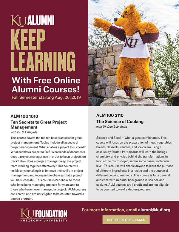 2019 Fall Alumni Courses