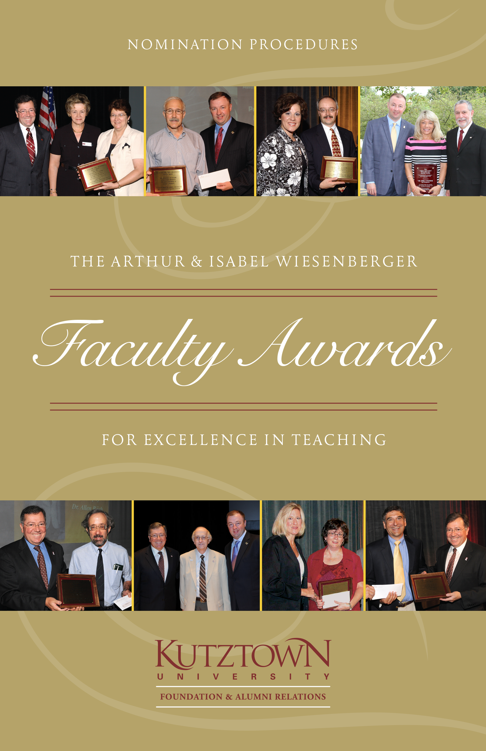 Arthur & Isabel Wiesenberger Faculty Awards for Excellence in Teaching