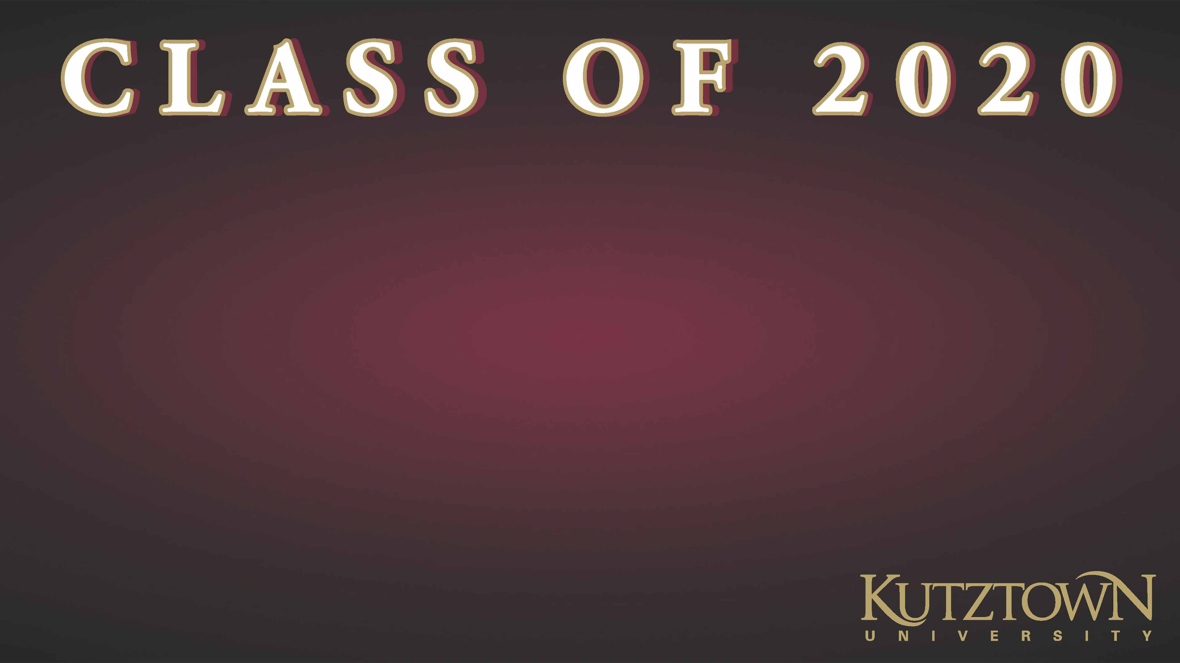 Class of 2020 Zoom Background