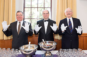 Ku President Hawkinson and past Presidents Cevallos and